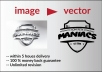 convert jpg,png,image to vector within 5 hours