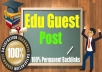 5 High Unbeatable Edu Guest Post with SEO Dofollow Backlinks for 2017