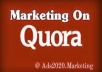 Boost your website with High Quality 20 Quora clickable backlink
