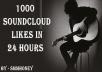 give u 1000 sound cloud likes (favorites)