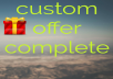 4 dolar custom  service complere very fast  for $4