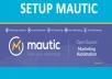 Setup fresh Mautic Marketing Automation platfotm for $57