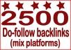 Boost Site Alexa Rank with 2500 do-follow Backlinks