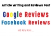 Article Writing and Google Reviews Post on local listing to help SEO