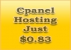 1 year cPanel hosting at a great price of just $0.83 ... for $10