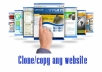 develop a clone of any website for $150