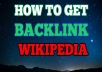 Create Related Wikipedia Backlink 100 Percent Sticky for $35