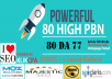 80 PowerFul High PBN Permanent Manual Post DA 77 Dofollow Homepage PBN Links