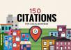I will create 150 Citation for local SEO