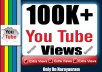 Get (100k) High Quality Views Life Time Guarantee
