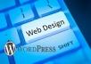 Wordpress Website Design  for $10