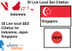 Manually Create Top 30 Live Local Business Citations For  Indonesia or Japan or Singapore