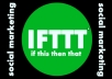 Providing 1 Ring with 10 social and blog account internal link with IFTTT Recipe