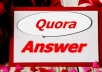 I will Promote website with HQ 10 Quora answer