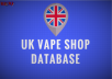 Send You A List Of UK Vape Shop Contact Leads Plus Bonus Updated June 2017