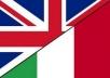 Traduzioni dall'inglese all'italiano Translate from e... for $5