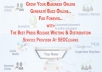 Write 300 Words SEO Press Release And Publish To PRBUZZ Plus 25 Networks