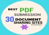 Best PDF submission 30 document sharing sites