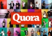 Give you 30 quora answers for targeted traffic