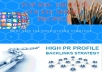 Creating social media profile with high PR backlinks for your business