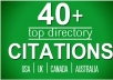 Do 40 Directory Citations For Usa, Uk, Canada Local S... for $10