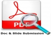 High Authority Doc & Slide Submission SEO Ranking service