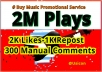 Buy Music Promotional Services, Million of Listeners  for $25