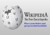Create Niche Relevant Wikipedia Backlink For Your Web... for $30