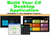 Build your c sharp windows desktop application window... for $180