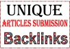 Create 6000 Unique Article Submission High PR Metrics Backlinks