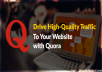 Promote your website with 50 HQ Quora Answer