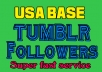 Add 550+ USA Tumblr followers or Reblog very fast  for $5