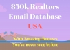 Give you 850k USA Realtors email list