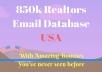 Give you 85k USA Realtors email list