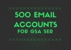 2000 email accounts for gsa ser for $7