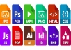 Convert Office,Image,Audio,Video Files And Other Formats
