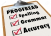 Proof Reading & Editing Services