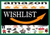 300 SEO Based Unique Amazon Wishlists From Different Account