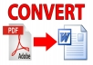 PDF to WORD convertion for $5