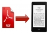 We Will Do The Ebook Conversion From Pdf,Word, Indesign Into Epub And Kindle Formats