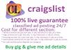 Craigslist ad posting for you