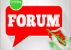 Create unique 20 Forum post back-link to promote your... for $20