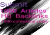 1000 Contextual backlinks from social networks articl... for $5