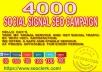 manually create 4000 social signal mix SEO campaign