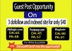 Write And Publish Guest Post 3 dofollow And Indexed sites