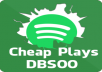 3000 Spotify Plays! Cheapest Spotify Play BEST service here! HQ Spotify Plays