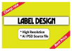 Design Bottle Label, Product Label And Packaging Label