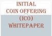 Write a well researched and developed cryptocurrency ICO whitepaper