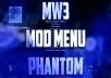 COD MW3 Mod Menu Phantom  (PS3)