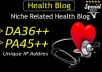do guest post in da36 HQ health blog  for $8